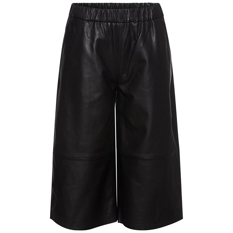 RUE DE FEMME FELICIA LEATHER PANT SORT
