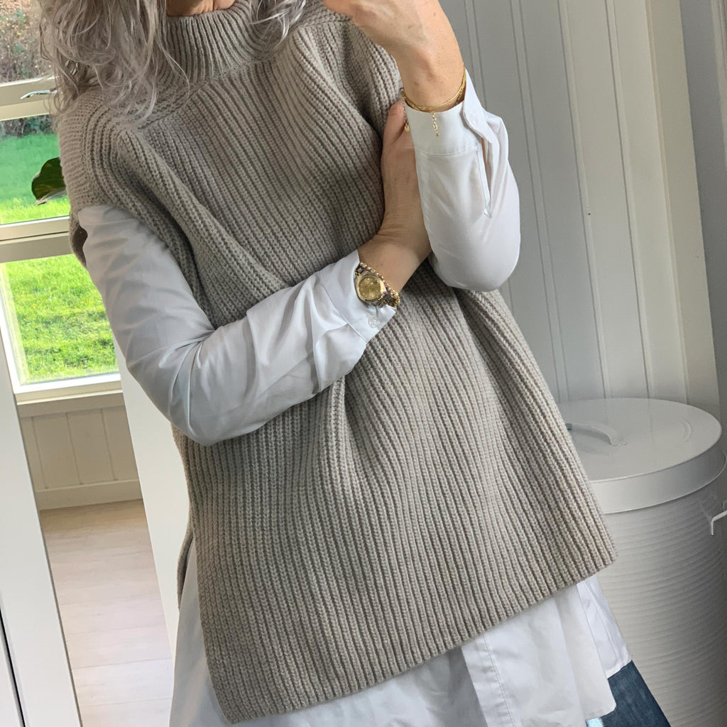 SECOND FEMALE BELLE KNIT NEW VEST BEIGE