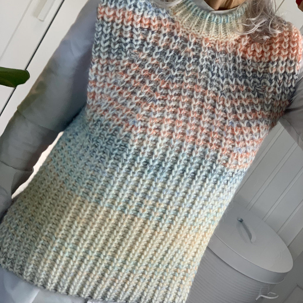 SECOND FEMALE ELSA KNIT VEST ORANGE