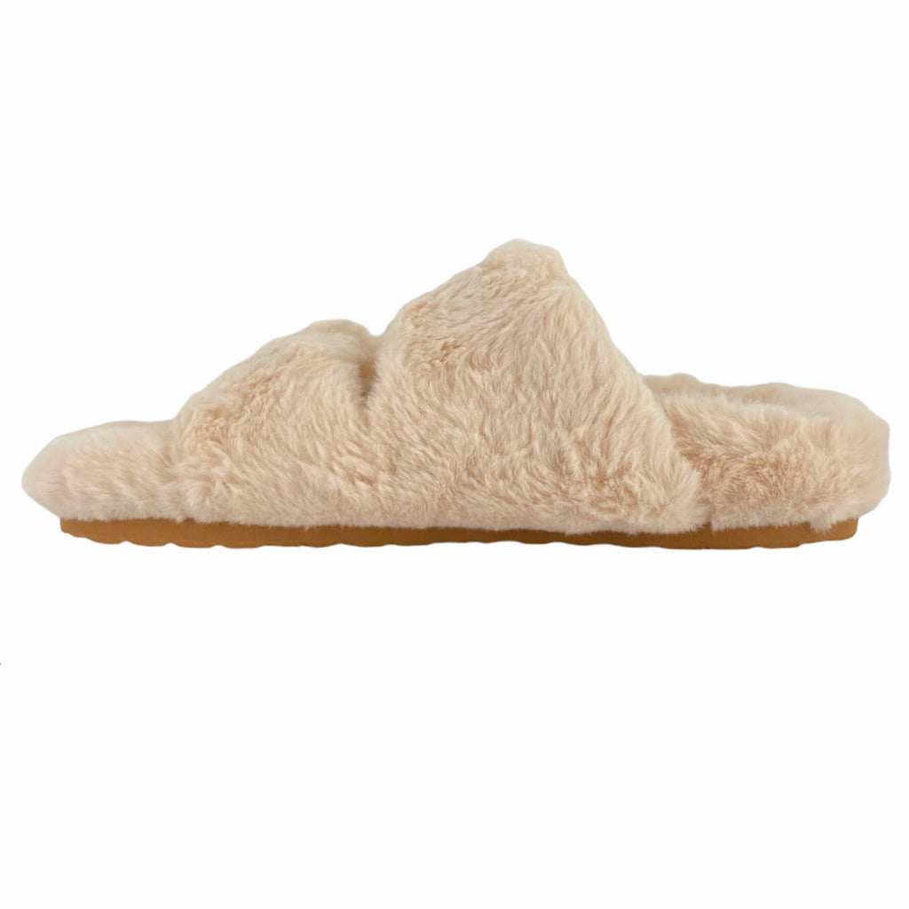 STEVE MADDEN AROUND SLIPPER BEIGE