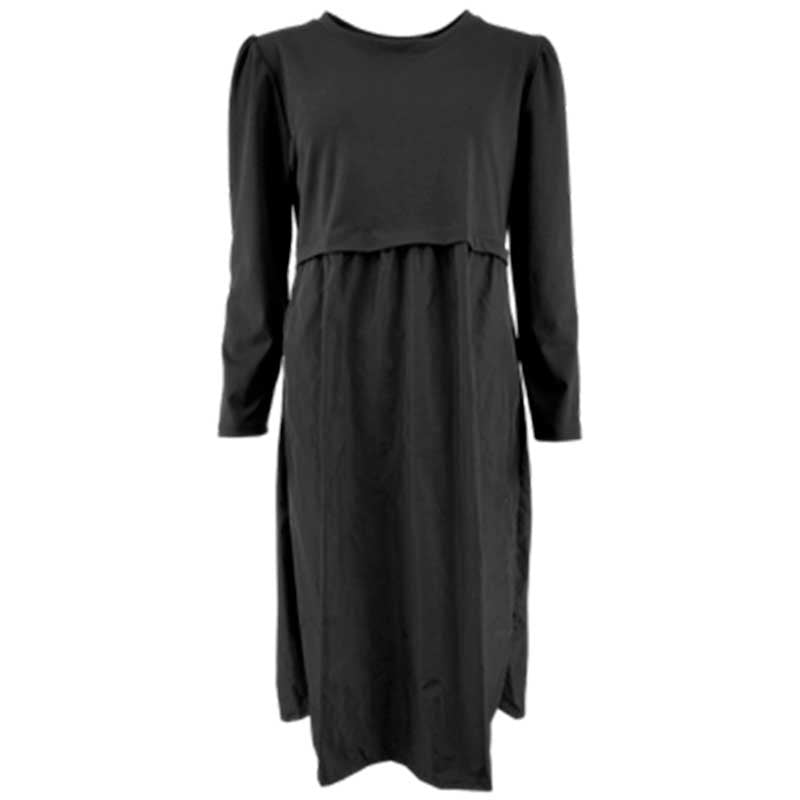 BLACK COLOUR SALLY SWEAT DRESS SORT