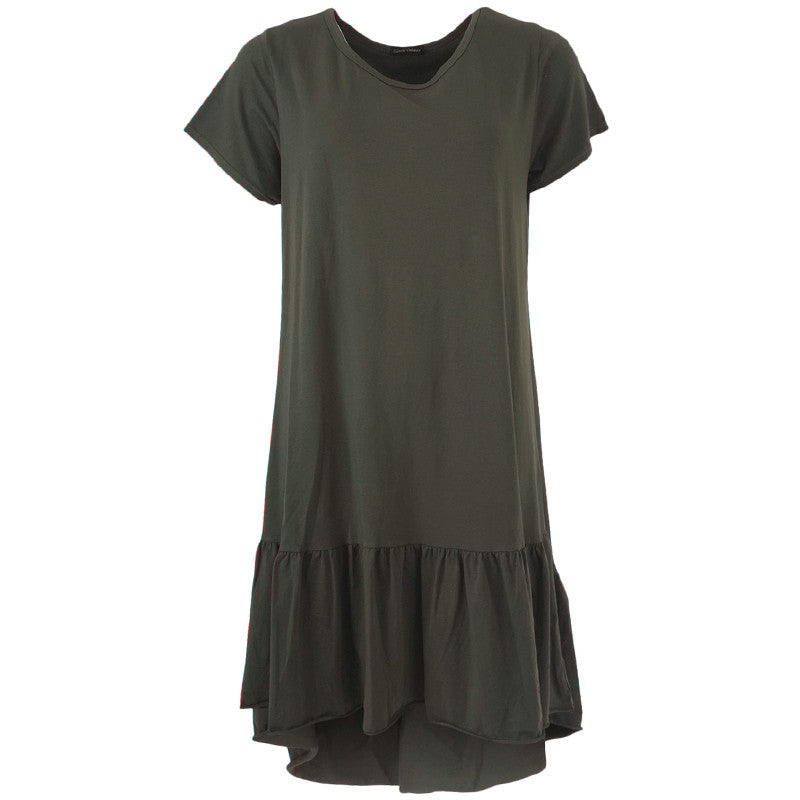 BLACK COLOUR SANN JERSEY DRESS  ARMY