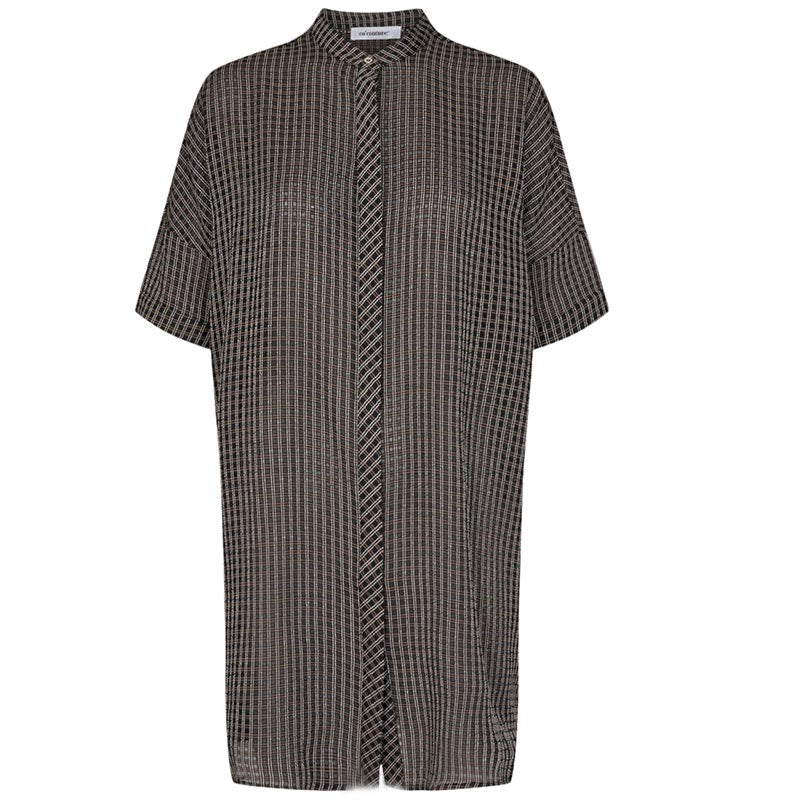 CO COUTURE CLEAR CHECK TUNIC SHIRT SORT