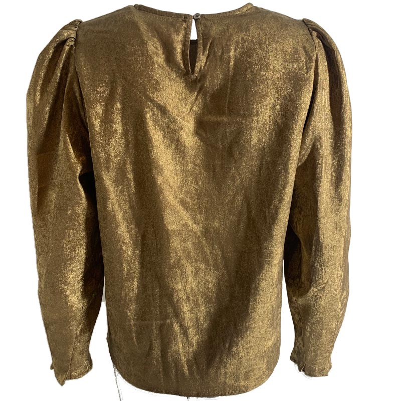 CO COUTURE ISLA SHIMMER BLOUSE GULD