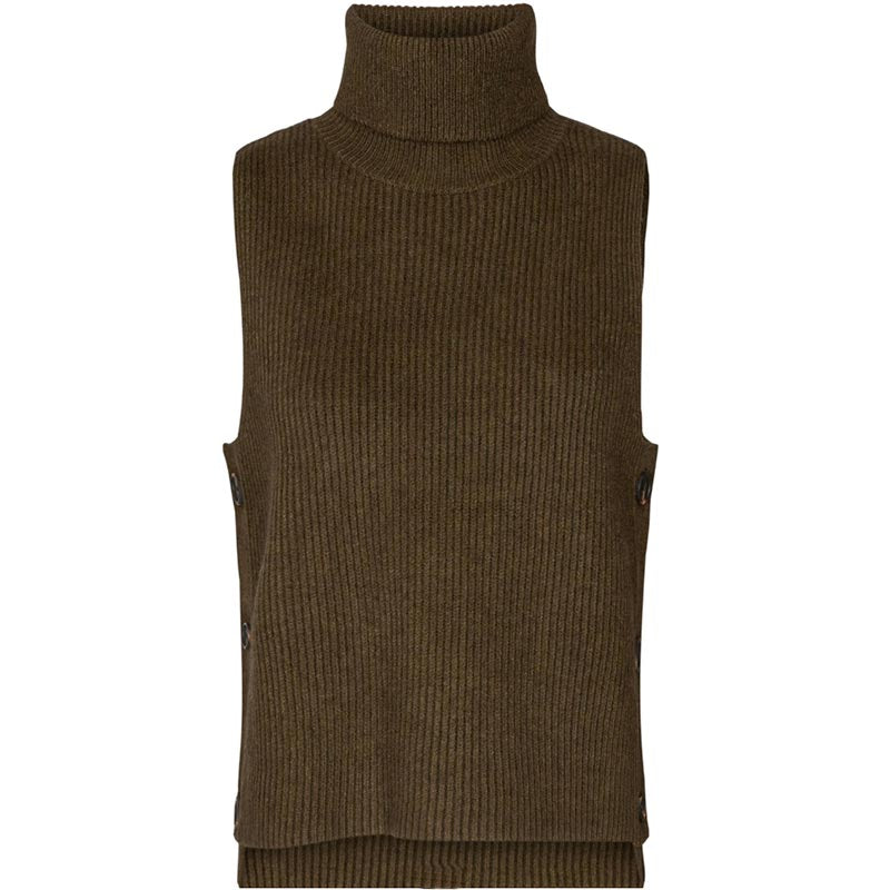 CO COUTURE ROW BUTTON VEST ARMY