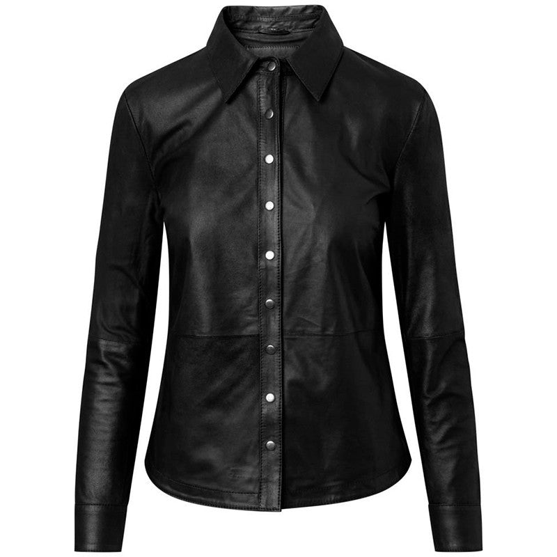 DEPECHE LEATHER SHIRT 50112 SORT