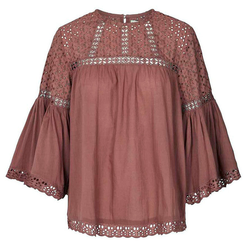 LOLLYS LAUNDRY BRANDY BLOUSE  BORDEAUX