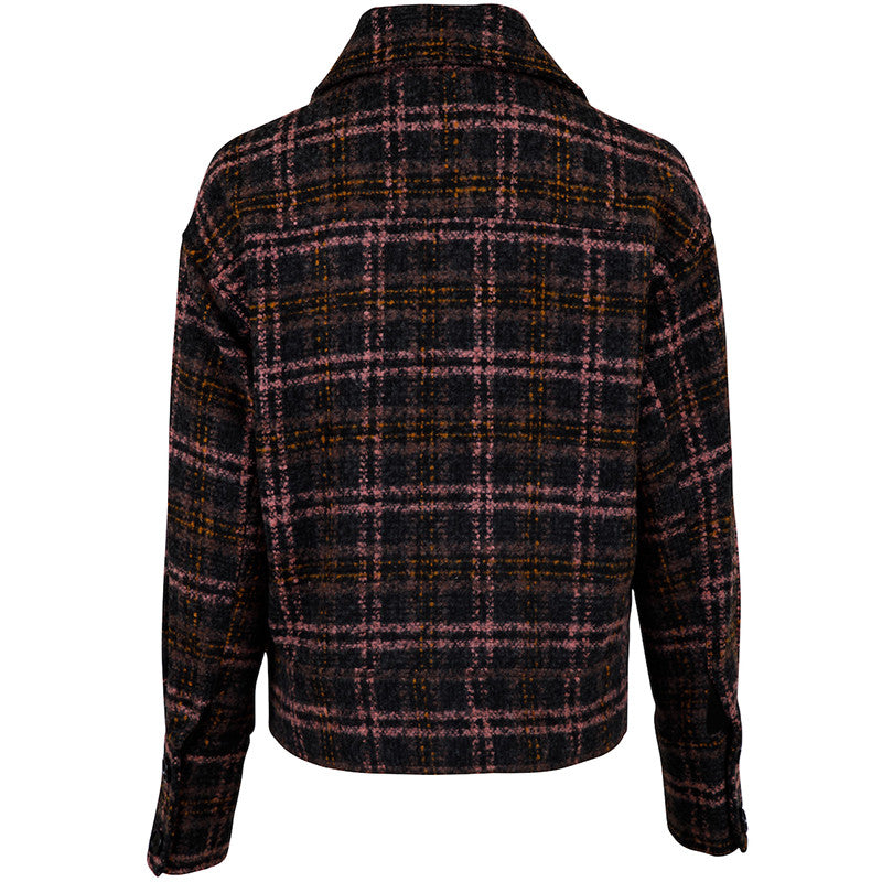 NEO NOIR JOANIE WINTER CHECK JACKET ROSA