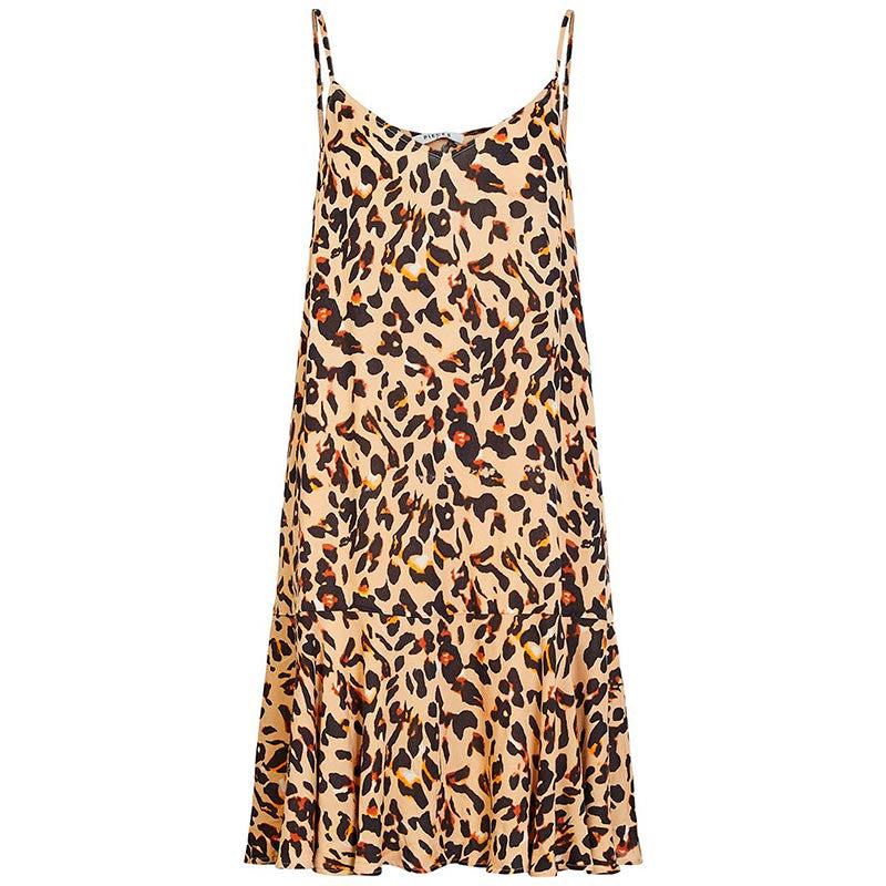 PIECES PCNYA SLIP DRESS  LEOPARD