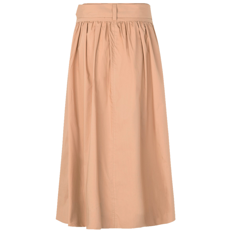 SECOND FEMALE PHOEBE HW WRAP SKIRT NOUGAT