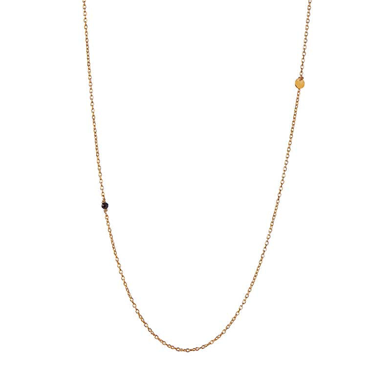 STINE A PENDANT CHAIN COIN & SPINEL NECKLACE GULD