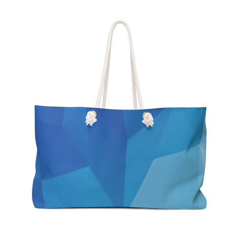 Polygon Weekender Bag (blue)