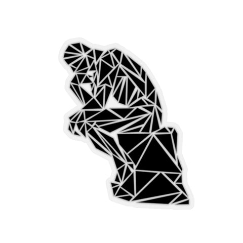 Polygon Thinker (black) Laptop Stickers