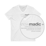 knowmadic (a) Unisex Jersey Short Sleeve V-Neck Tee