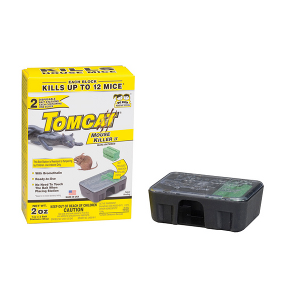 TOMCAT DISPOSABLE BAIT STATION WITH BAIT 2 PCAK