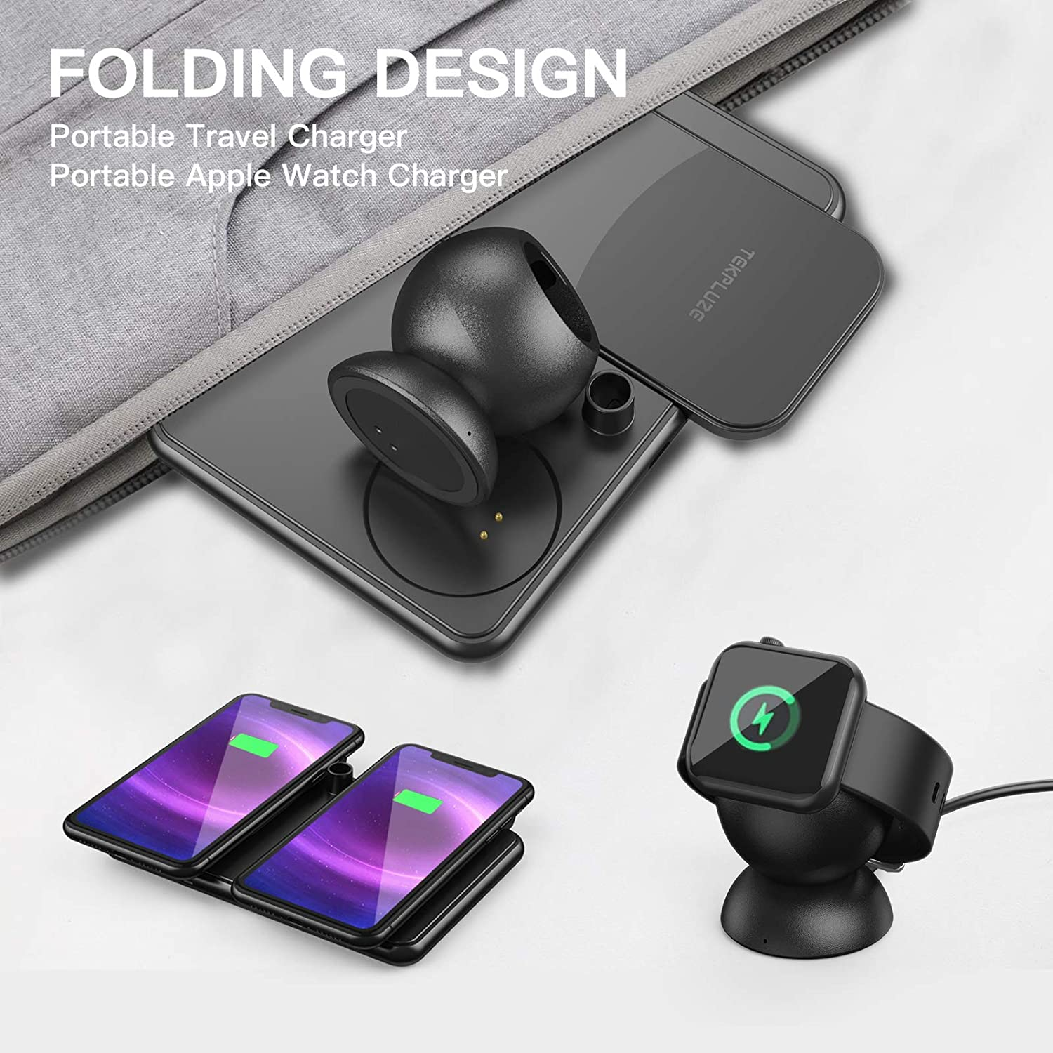 Folding design travel 4 in 1 Wireless Charger iPhone  Apple Watch AirPods and Apple Pencil