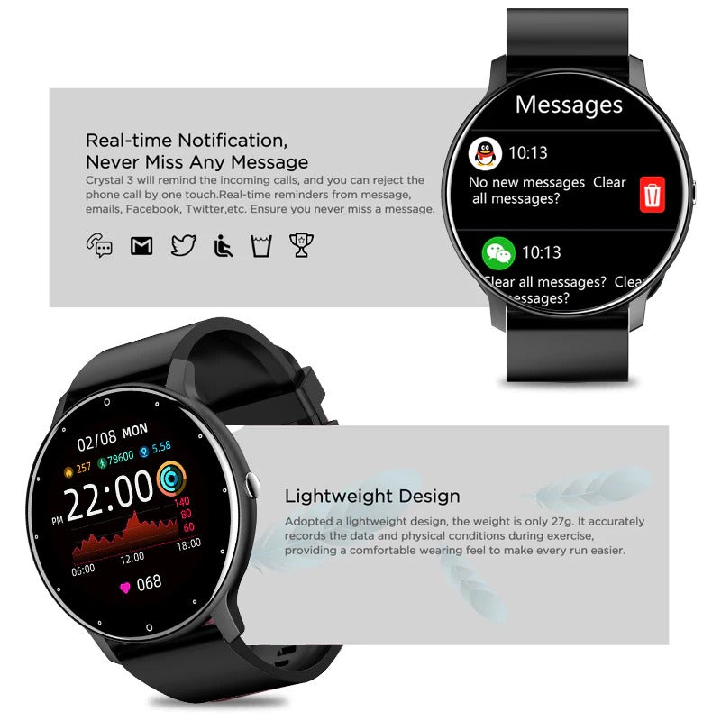 LIGE Smartwatch Stay connected with instant messaging with your favorite Apps