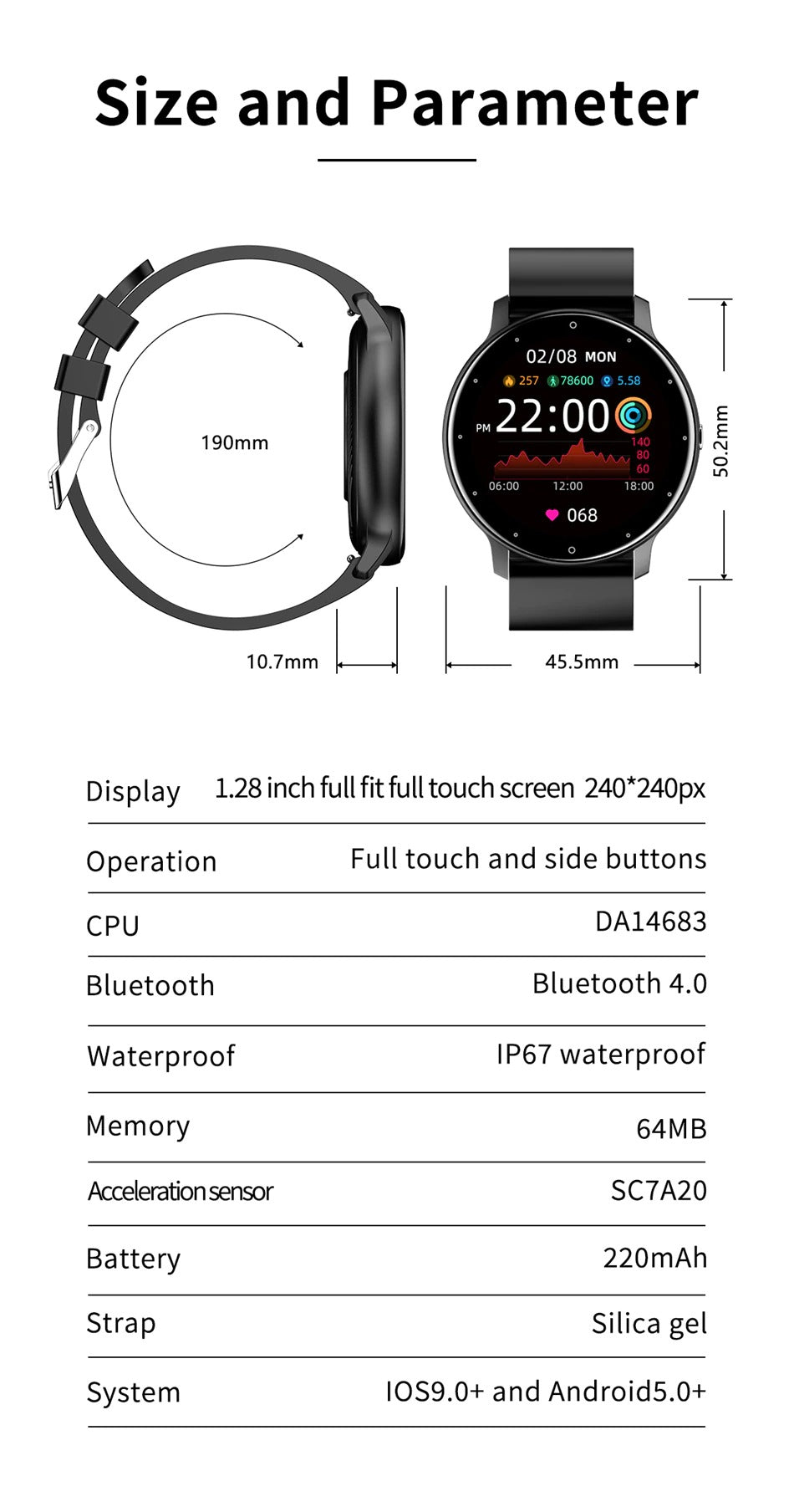The LIGE Smart Watch fits all, suited for all ages