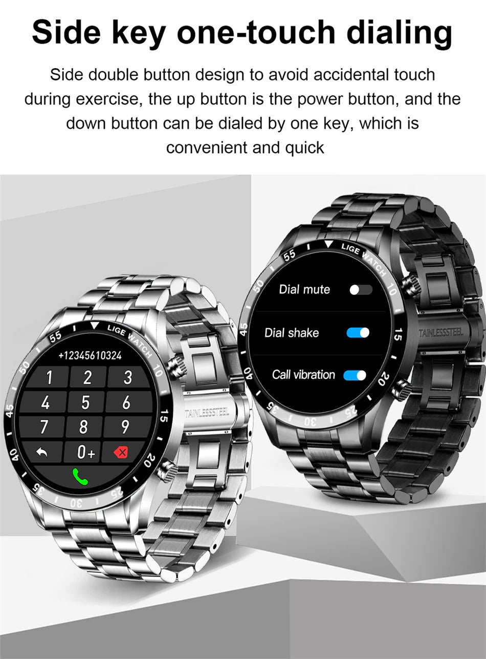 One touch dialling with the LIGA Smart Watch
