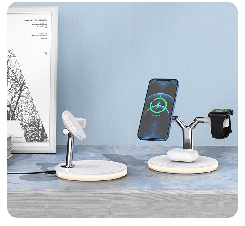 Wireless Charger desk bedstand office living room iphone apple watch airpods