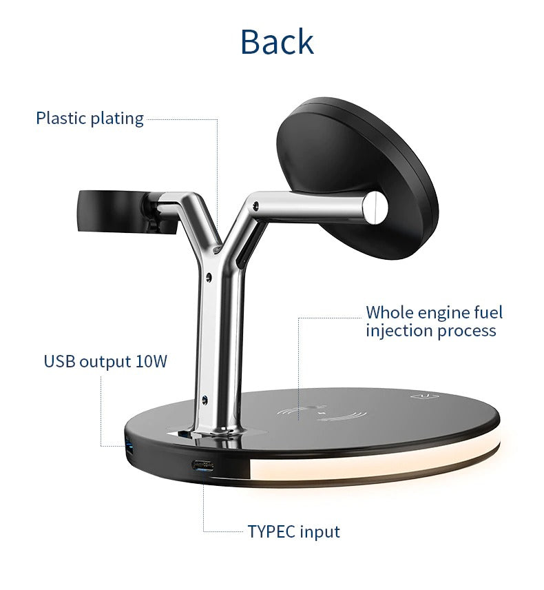 Wireless Charging Station Back