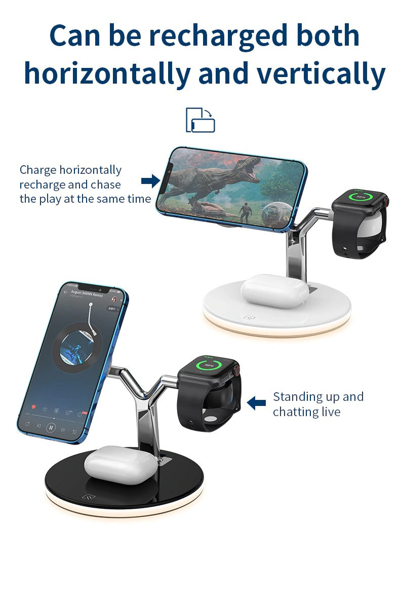 Magnetic dock station Wireless Charger iPhone Apple Watch AirPods