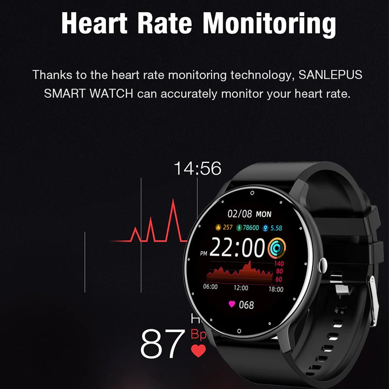 Monitor your blood pressure and oxygen levels with the LIGE Smart Watch