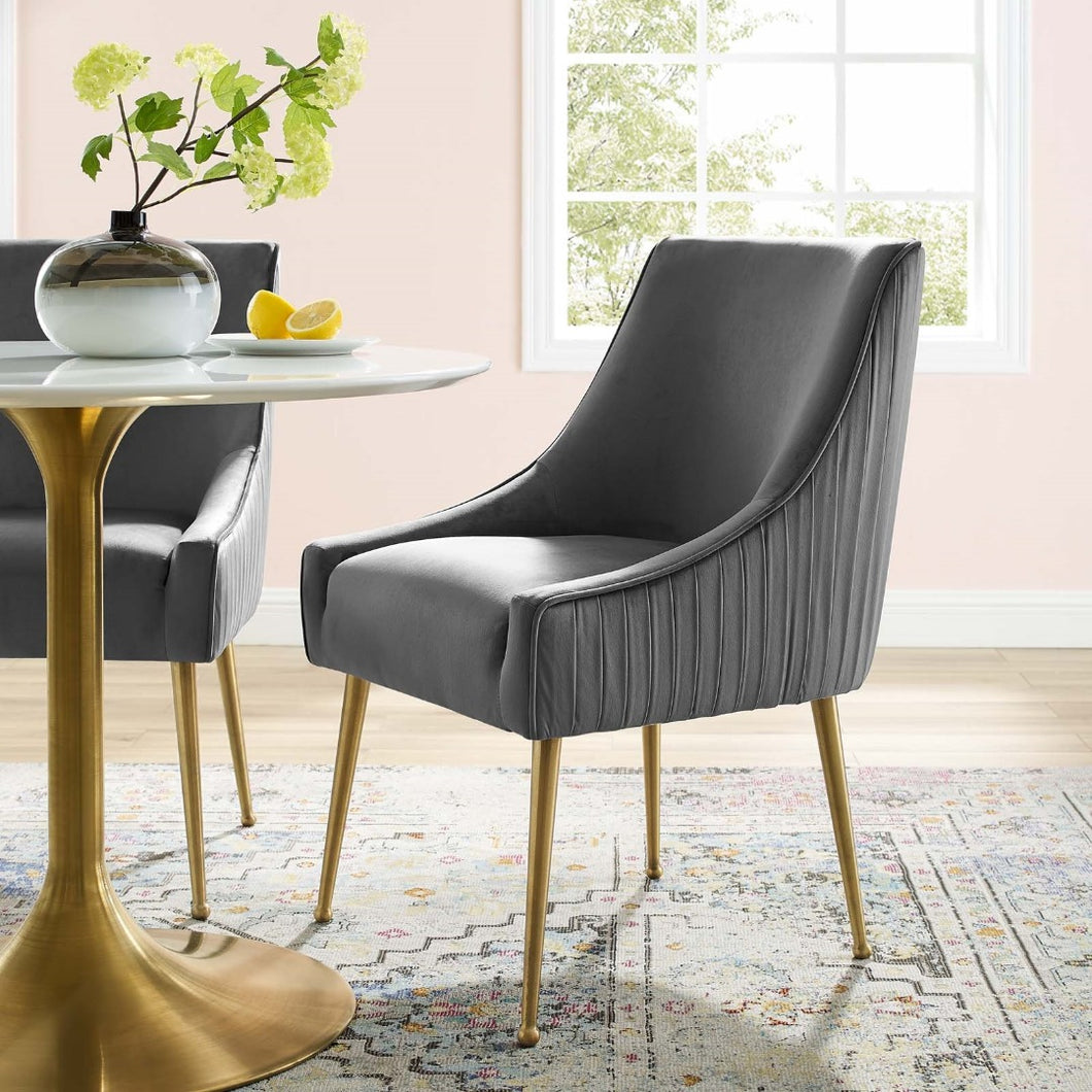 Grey Fabric Upholstered Accent Chair