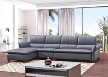 Load image into Gallery viewer, Light Blue 5-Seater Leather Sectional Sofa