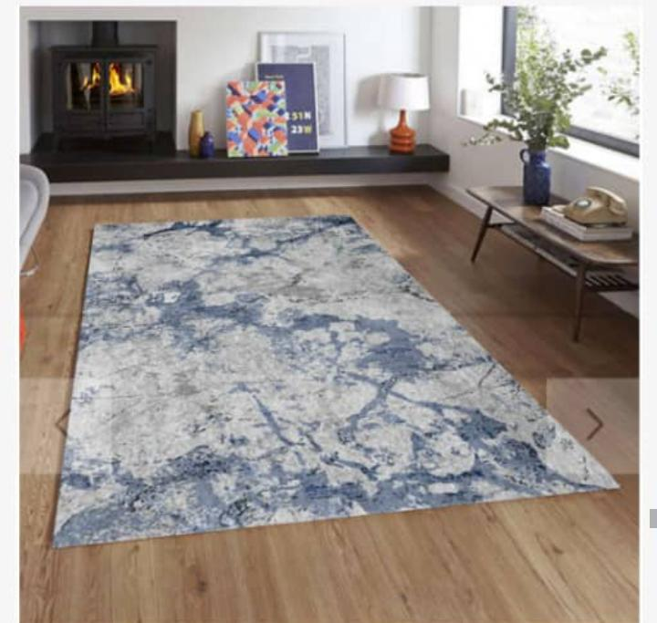 Viscose Blend Grey/Blue Area Rug