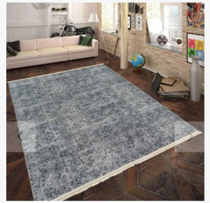 Viscose Blend Grey Area Rug