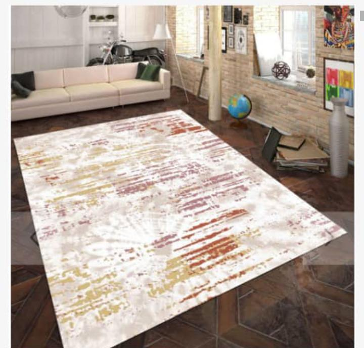 Viscose Blend Gold/Pink/White Area Rug
