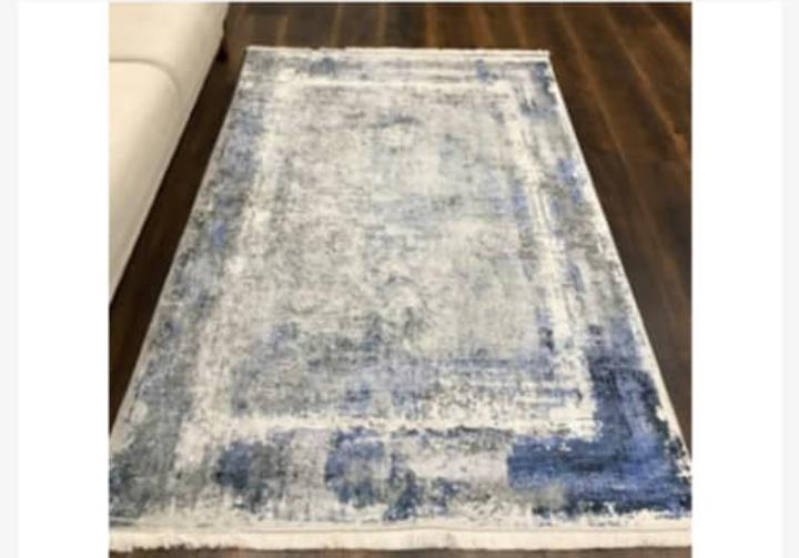 Viscose Blend Cream/Blue/Grey Area Rug