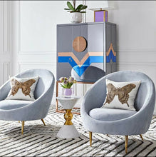 Load image into Gallery viewer, Dipping Fabric Upholstered Accent Chair