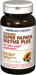 American Health Super Papaya Enzyme Plus Chewable