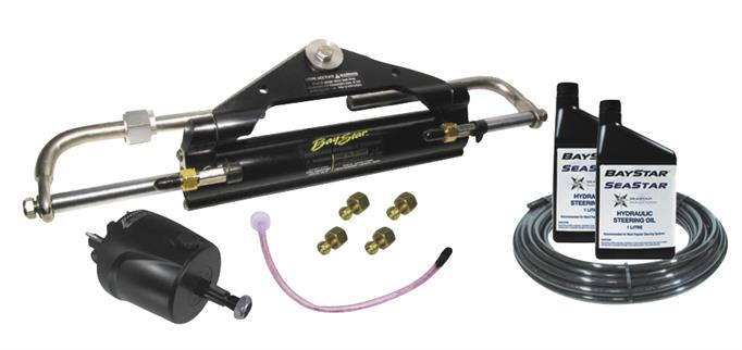 Baystar Complete Front Mount Hydraulic Steering Kit
