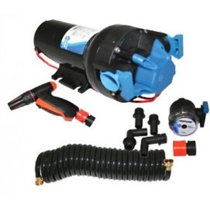 Jabsco Hotshot 6.0 Deckwash Pump & Hose Kit