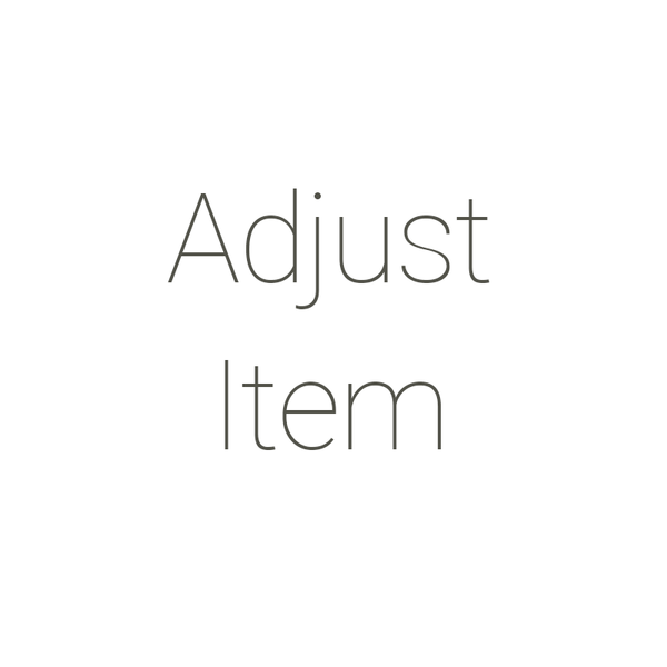Adjustment Item