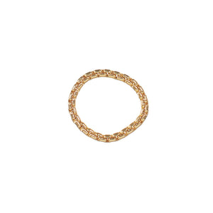 Thick gold chain ring.
