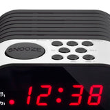 Lenco CR-07 White - FM Alarm Clock Radio with with Sleep timer and double alarm function - White