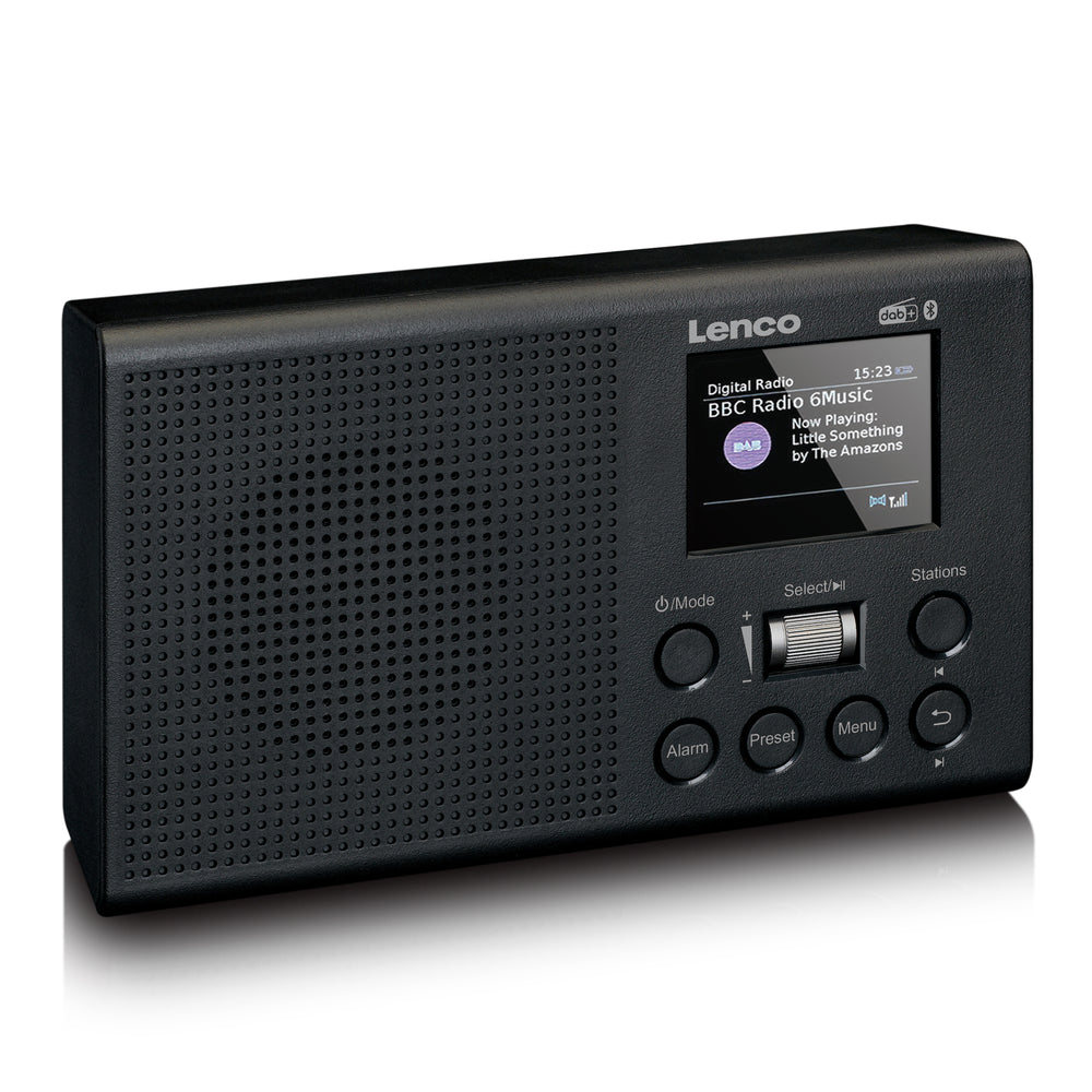 Lenco PDR-031BK - DAB+/FM Radio with rechargeable battery and Bluetooth - Black