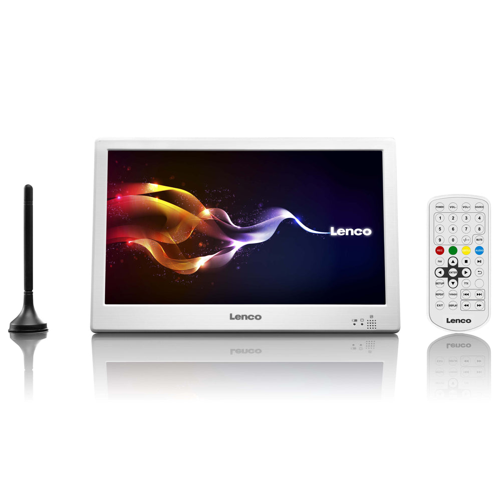 "Lenco TFT-1038WH - 10"" LED TV with DVB-T2, AUX IN - White"