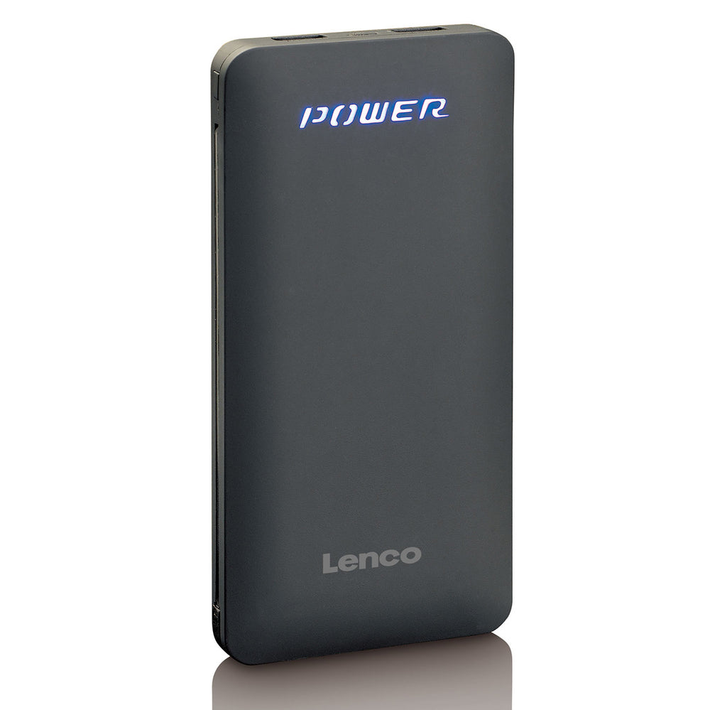 Lenco PBA-830 - Powerbank of 8000 mah with Apple and USB connection - Black