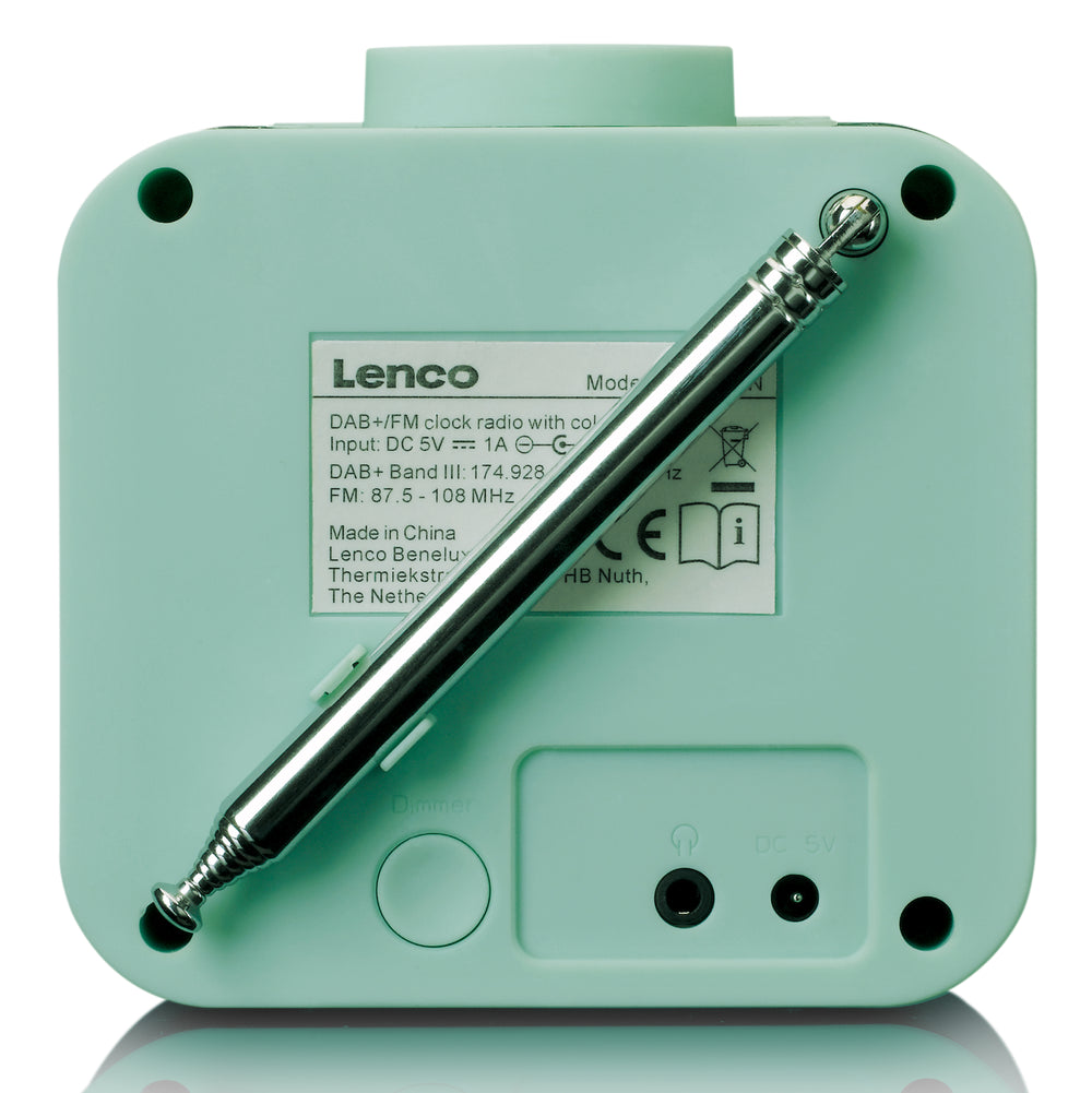Lenco CR-620GN - DAB+/FM Clock Radio with colour display - Green