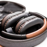 Lenco HPB-730BN - Bluetooth Headphones with Active Noise Cancelling (ANC) - Brown