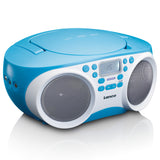 Lenco SCD-200BU - Radio CD Player with MP3 and USB function - Blue