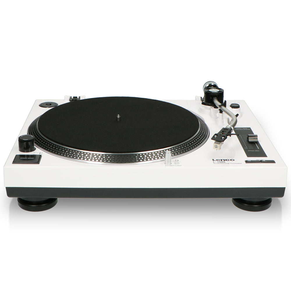 Lenco L-3808 White - Direct drive turntable with USB / PC Encoding - White
