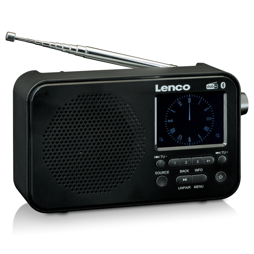 Lenco PDR-035BK - DAB + / FM Radio with Bluetooth - Black