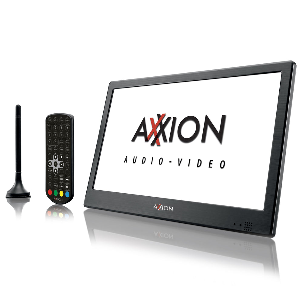 "Axxion AXX-1028 - Portable LCD TV 10"" DBV-T2 and HDMI - Black"