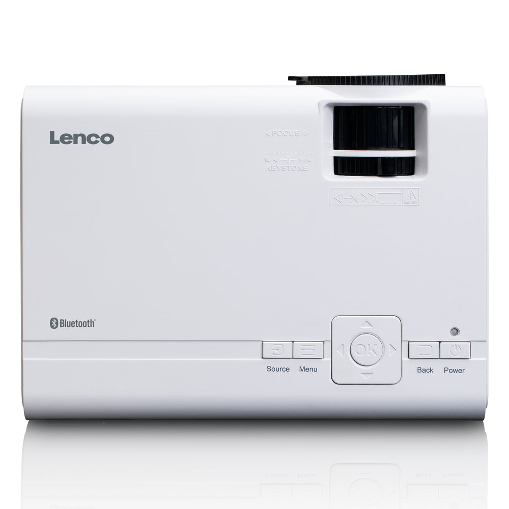Lenco LPJ-300WH - LCD Projector with Bluetooth - White